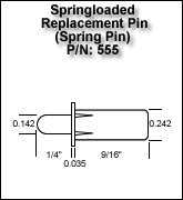 Springloaded Replacement Pin